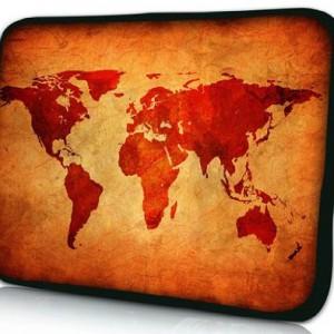 PEDEA-66060426-Funda-de-neopreno-para-porttil-156-Marrn-Mapa-Global-0