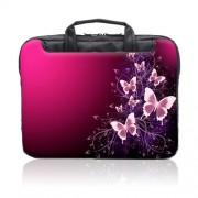 TaylorHe-Funda-para-porttil-15-40cm-bolso-de-bandolera-para-15-156-Laptop-con-bolsillos-laterales-para-accesorios-SamsungAcerToshibaMacbook-diseo-de-mariposas-rosa-chispas-0-0