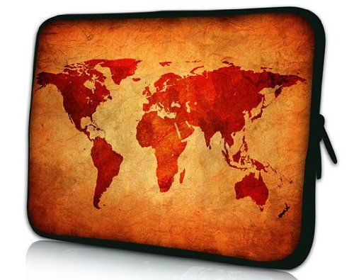 PEDEA-66060426-Funda-de-neopreno-para-porttil-156-Marrn-Mapa-Global-0
