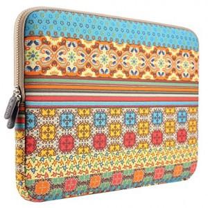 PLEMO-Estilo-Bohemio-Tela-de-Lona-Funda-Blanda-Bolso-Sleeve-para-Ordenador-Porttil-MacBook-MacBook-Pro-de-15-156-Pulgadas-Sol-Brillante-0